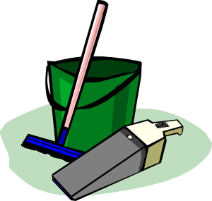 Supplies to clean and prepare your house before moving in.