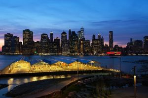 A view from Brooklyn Heights which one of the poshest neighborhoods