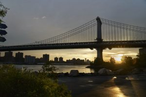 View of the sunset in Dumbo, BK.