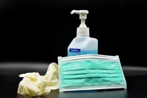 Supplies to disinfect your office furniture.