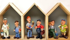 Model of Workers during major home renovations