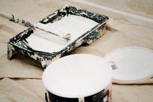 Paint in a bucket