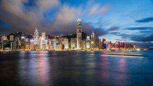 Hong Kong city view.