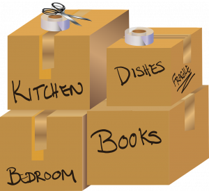Labeled boxes.