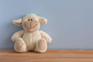 A plush sheep toy.